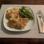 Pike Perch with Green Beans and Potato Gratin